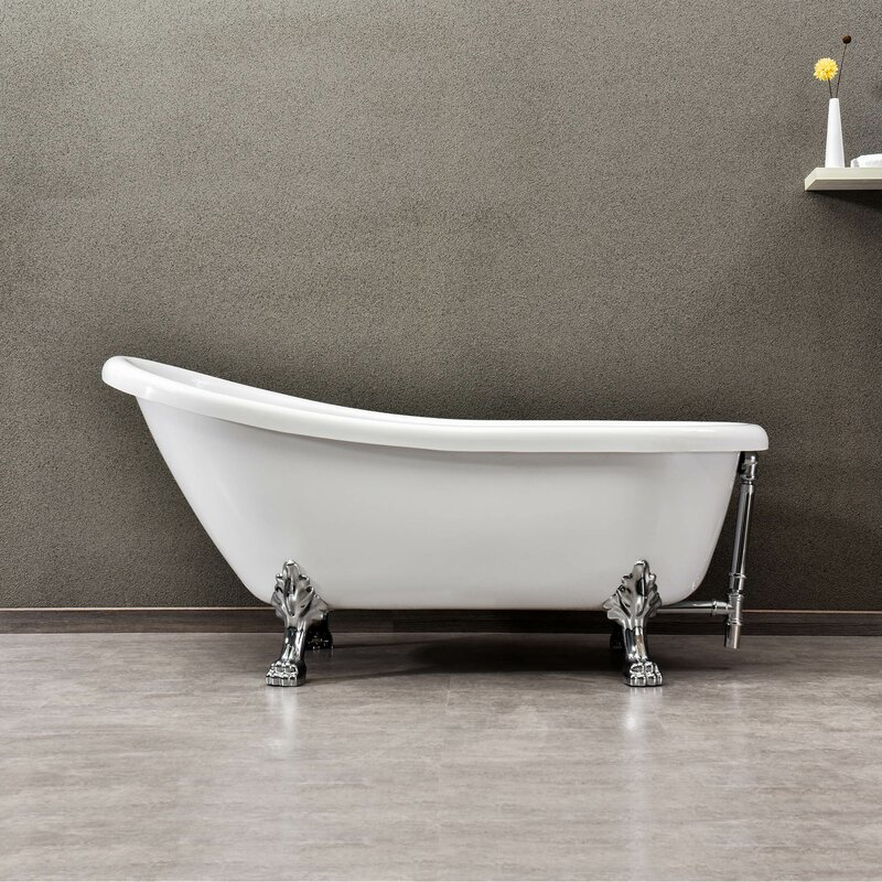"67"" x 32"" Clawfoot Soaking Bathtub"