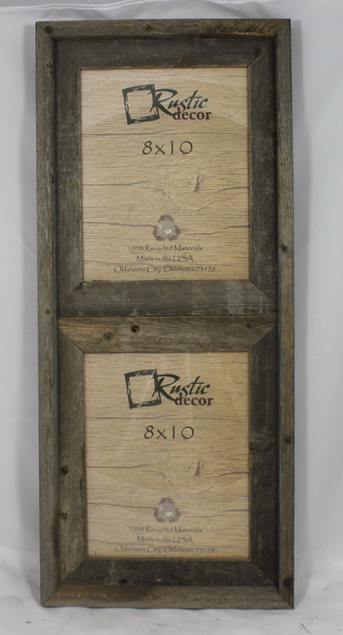 RusticDecor Barn Wood Vertical 2 Opening Collage Picture Frame | Wayfair