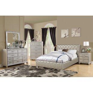 Amanda California King Sleigh Configurable Bedroom Set by Rosdorf Park