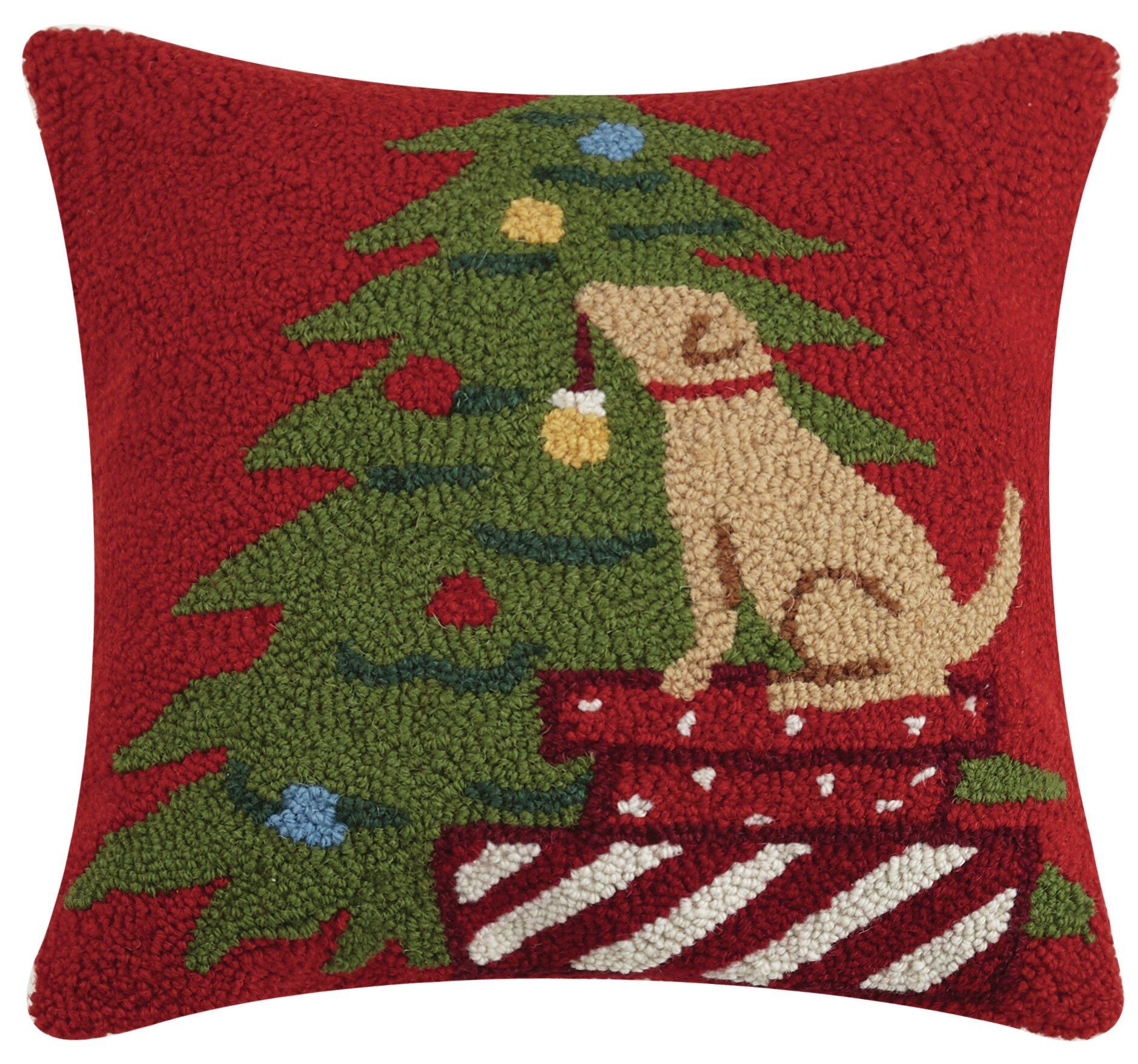 The Holiday Aisle Refugio Hook Wool Throw Pillow Wayfair