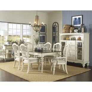 Alise 7 Piece Extendable Solid Wood Dining Set