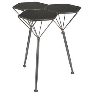 Read Reviews Geo Hex Honeycomb Modern Metal End Table by Design Toscano