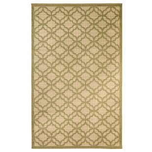 Emilia Beige/Green Indoor/Outdoor Area Rug By Longshore Tides