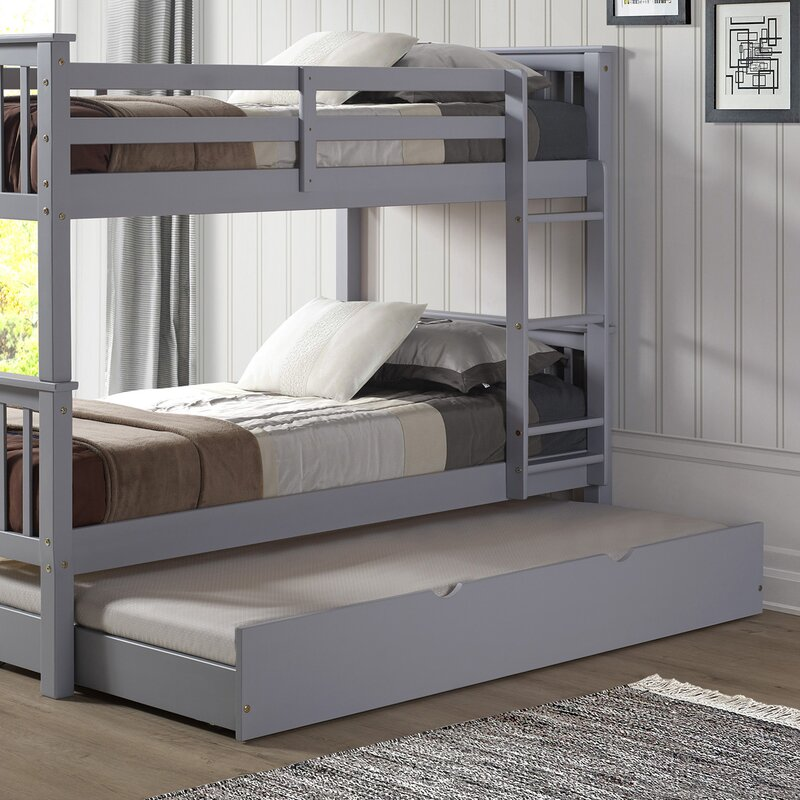 Viv Rae Esmeralda Twin over Twin Bunk Bed with Trundle Reviews