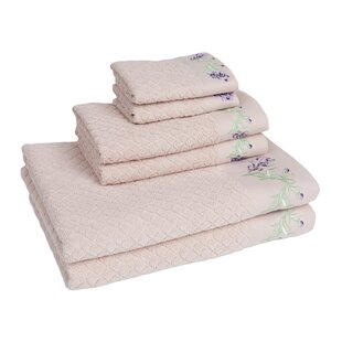 Tomblin 6 Piece 100% Cotton Towel Set