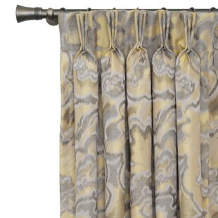 Amal Abstract Thermal Pinch Pleat Single Curtain Panel