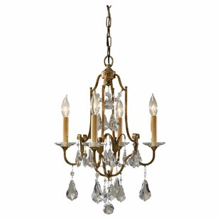 Feiss Valentina 4-Light Candle Style Chandelier