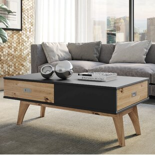 Tebikerei 2 Drawer Coffee Table by Union Rustic