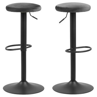 Cuomo Height Adjustable Swivel Bar Stool (Set Of 2) By Williston Forge