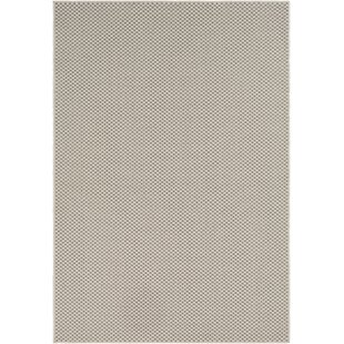 Buy clear Midwest Solid Ivory/Charcoal Area Rug ByCharlton Home