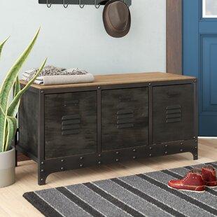 Trent Austin Design Wood and Metal Storage Bench