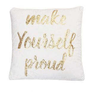 Foerer Sequin Velvet Throw Pillow