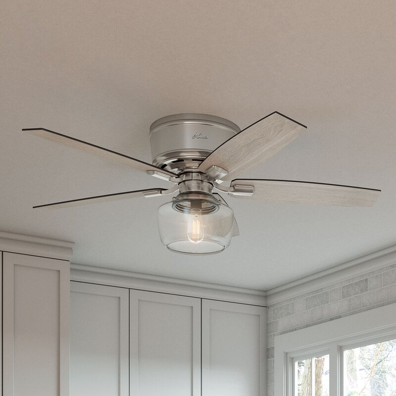 Flush Mount Ceiling Fan With Remote