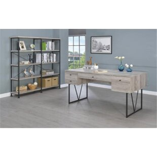 Lund Desk with Bookcase 2 Piece Set