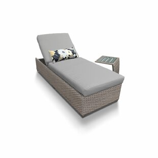 Medrano Reclining Chaise Lounge with Cushion and Table