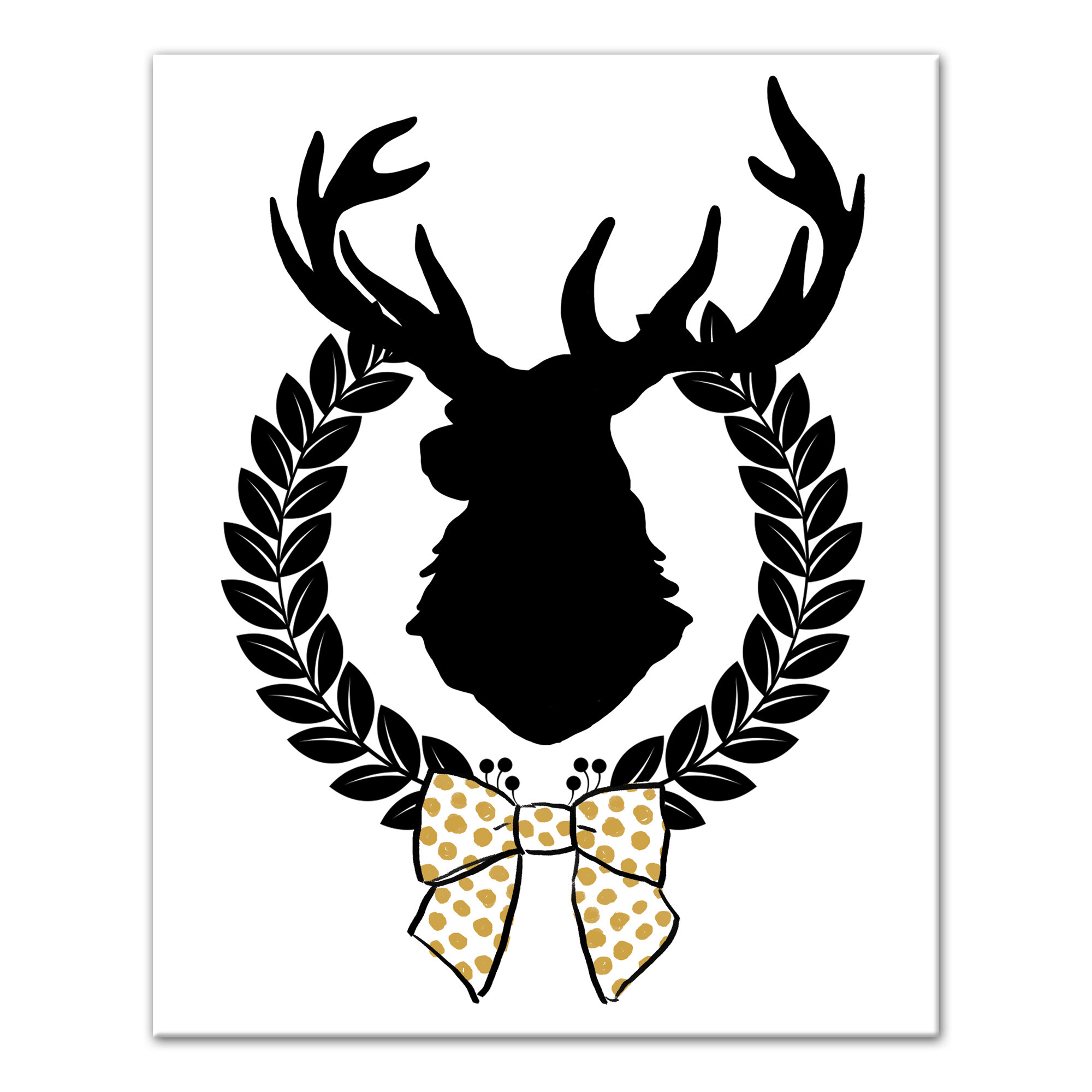 The Holiday Aisle Chic Christmas Reindeer Graphic Art Print On