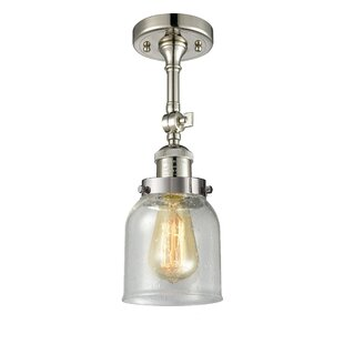 Looking for Arsen Small Bell 1-Light Semi Flush Mount By 17 Stories