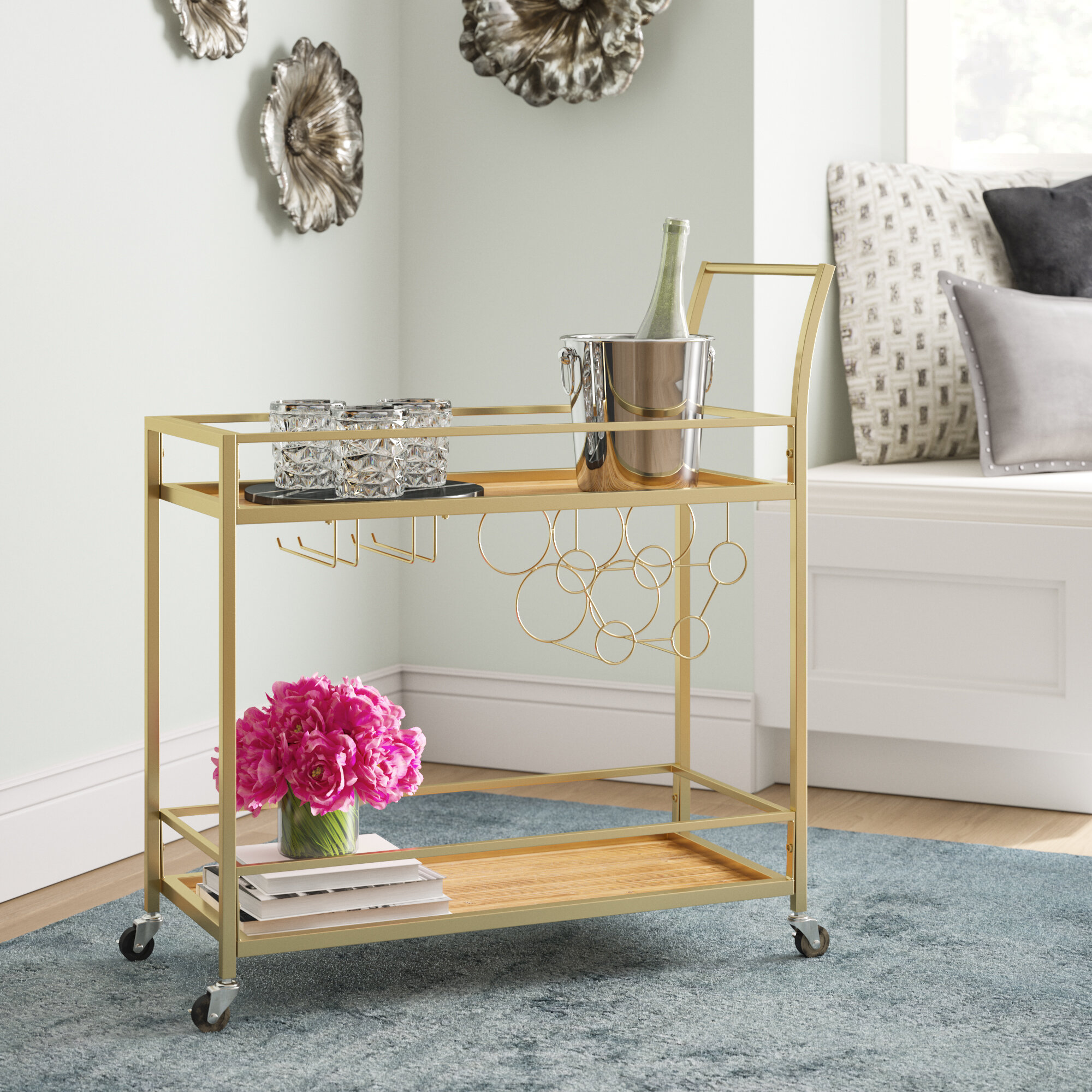 Gold Bar Carts You Ll Love In 2021 Wayfair