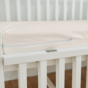 Zippered Natural Cotton Crib Mattress Protector by Bargoose Home Textiles Wonderful