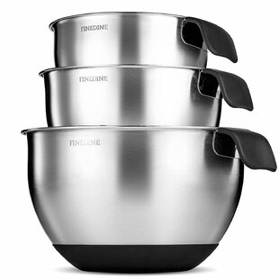 3 Piece Stainless Steel Mixing Bowl Set (Set of 3)