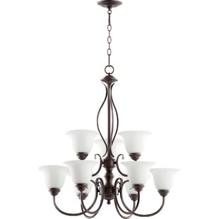 Bernardston 9-Light Shaded Chandelier by Fleur De Lis Living