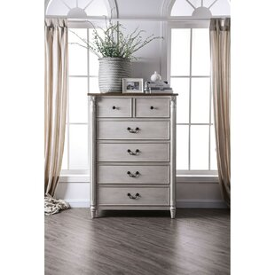 Orson Dual Tone Wooden 6 Drawer Chest