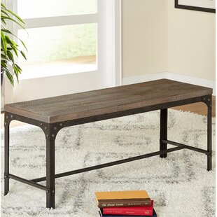 Williston Forge Myaa Meta/Wood Bench