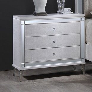 3 Drawer Nightstand by Best Quality Furniture 2019 Sale
