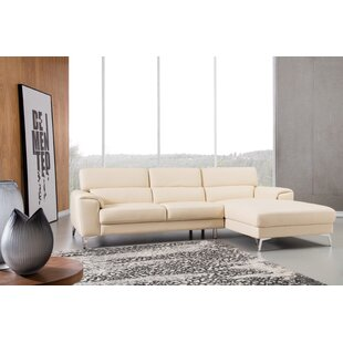 Reign Leather Sectional By Orren Ellis