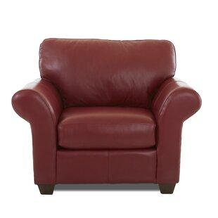 Alyson Leather Armchair By Wayfair Custom Upholstery™