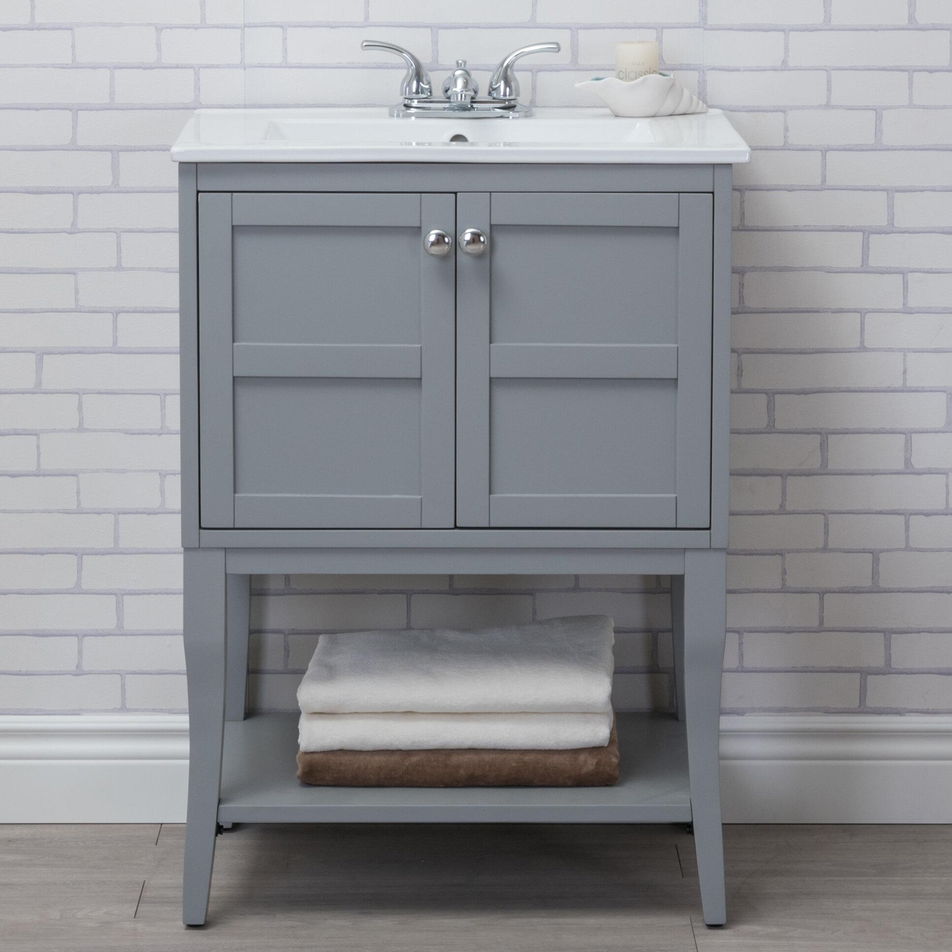 Lark Manor Wynkoop 24 Single Bathroom Vanity Set Reviews Wayfair