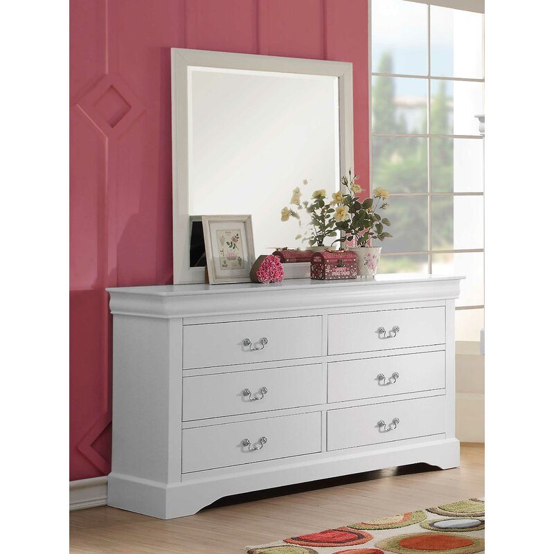 Red Barrel Studio Brodeur 6 Drawer Double Dresser With Mirror Wayfair