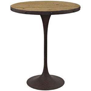 Braxten Drive Wood Pub Table by 17 Stories