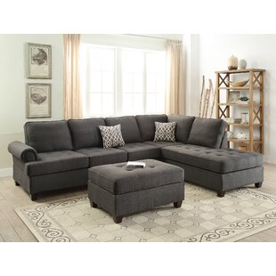 Bobkona Azura Reversible Sectional by Poundex