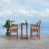 Eastford 3 Piece Bistro Set with Cushions