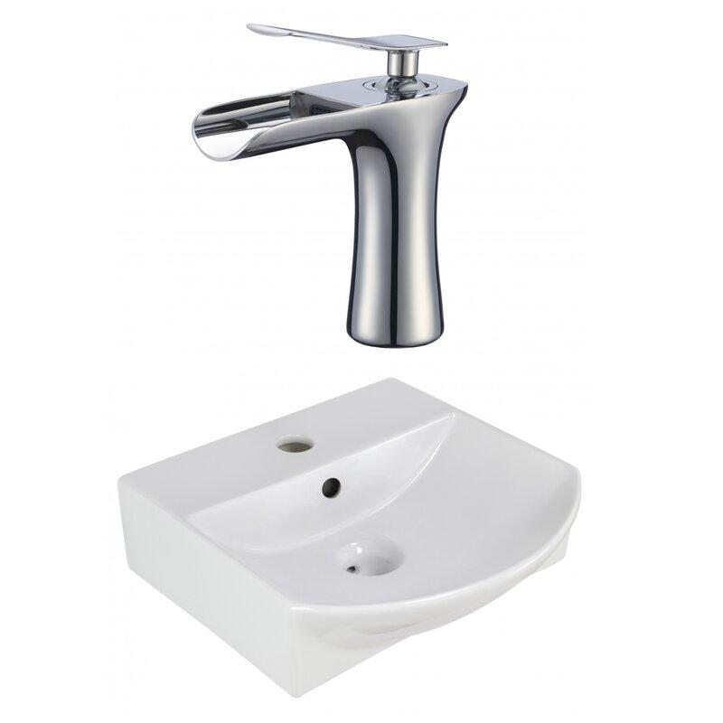 Avanities Ceramic U Shaped Vessel Bathroom Sink With Overflow And Faucet Wayfair