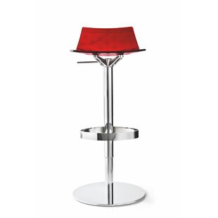 Elio Adjustable Height Swivel Bar Stool by Orren Ellis 2019 Coupont
