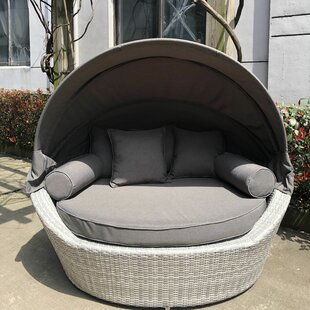 Carrasco Patio Daybed with Cushions by Rosecliff Heights