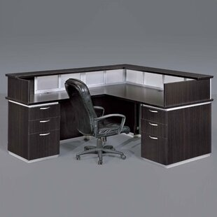 Pimlico Left L-Shape Reception Desk by Flexsteel Contract
