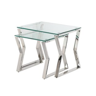 Lalma Glass Top Sled Nesting Tables By Orren Ellis