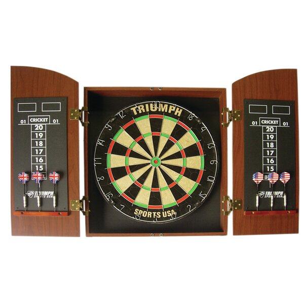 Triumph Sports USA Wellington Bristle Dartboard Cabinet & Reviews ...