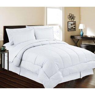 Charlton Home Meriden Ultra Lush Down Alternative 8 Piece Reversible Comforter Set