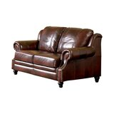 Rosetta 62 Wide Genuine Leather Loveseat by Darby Home Co