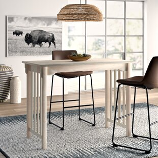 Araceli Counter Height Solid Wood Dining Table Mistana