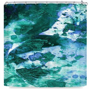Ebi Emporium Color Blots 6 Single Shower Curtain