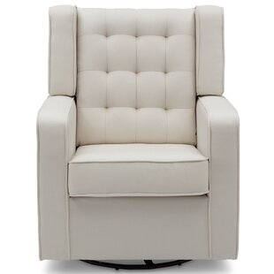 Milan Upholstered Swivel Rocker Glider By Delta Children