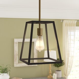 Compare prices Burley Oak 1-Light Lantern Pendant By Foundry Select