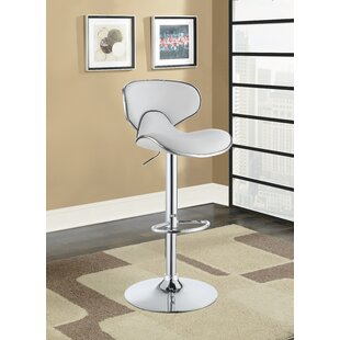 Kreider Adjustable Height Bar Stool by Orren Ellis New