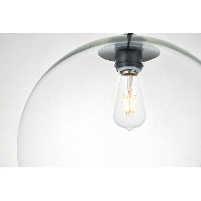 Yearwood 1 Light Single Globe Pendant