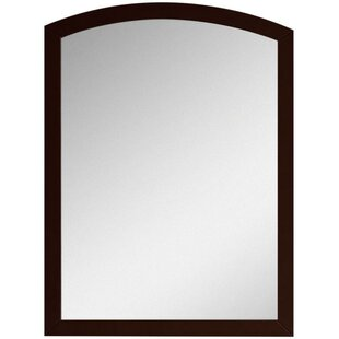 Cataldo Rectangular Birch Wood-Veneer Wall Mirror with Nylon Seal by Royal Purple Bath Kitchen